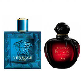 2'li parfüm set:ersace Eros Edt 100ml +Christian Dior Hypnotic Poison 100ml
